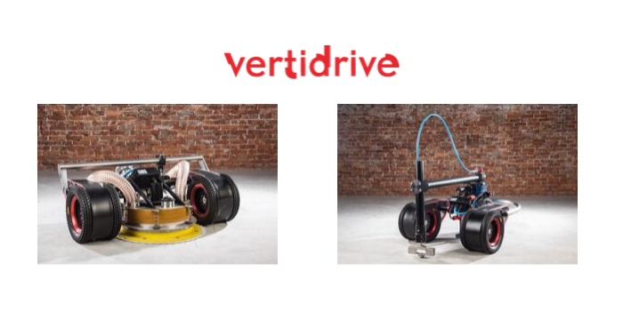 Vertidrive Logo and Robots