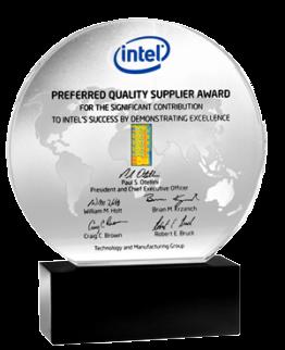 """Prix de """"meilleur fournisseur de qualité"""" décerné à Veolia par Intel"""
