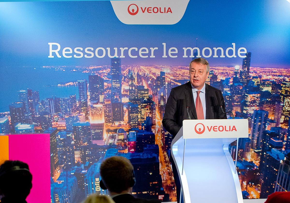 Antoine Frérot, Président-directeur général de Veolia lors du Press Day, 10 février 2015