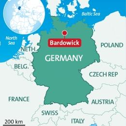 Map Bardowick, Germany